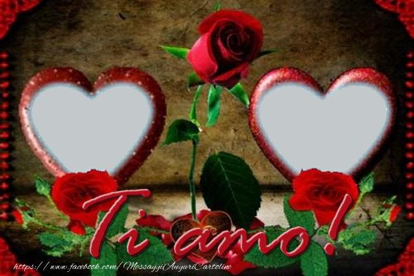 Cartoline personalizzate d'amore - Ti amo