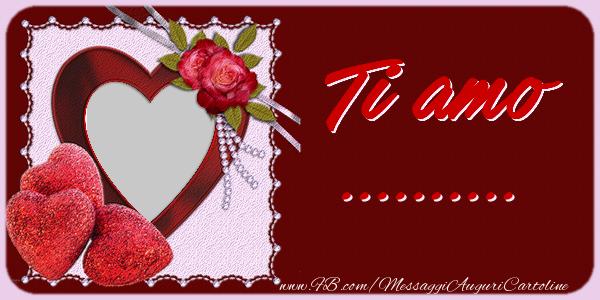 Cartoline personalizzate d'amore - Ti amo ...