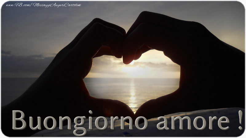Cartoline personalizzate d'amore - Buongiorno amore