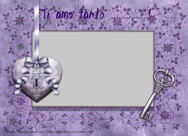 Cartoline personalizzate d'amore - Ti amo tanto