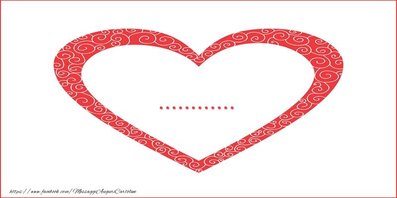 Cartoline personalizzate d'amore - ... | Nome nel Cuore