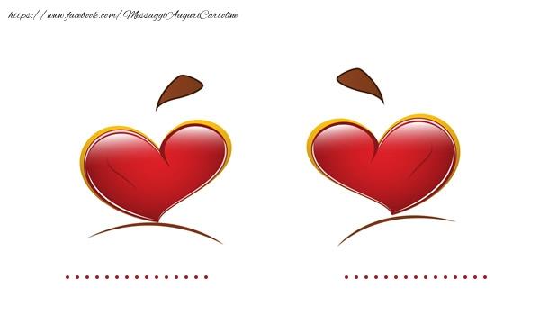 Cartoline personalizzate d'amore - ... + ... = LOVE