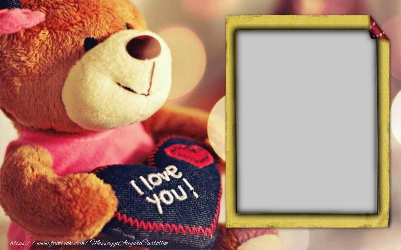 Cartoline personalizzate d'amore - I love you