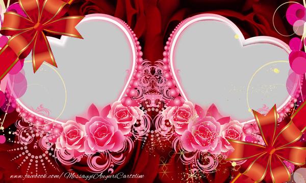 Cartoline personalizzate d'amore - Due cuori