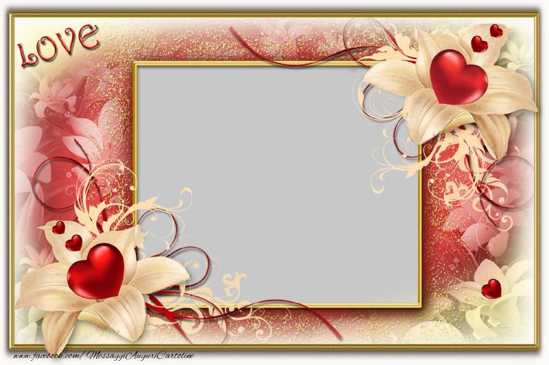 Cartoline personalizzate d'amore - Foto cuori