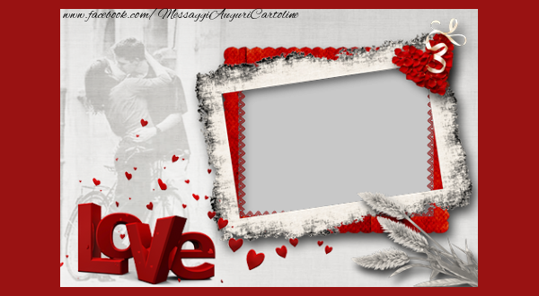Cartoline personalizzate d'amore - Love you