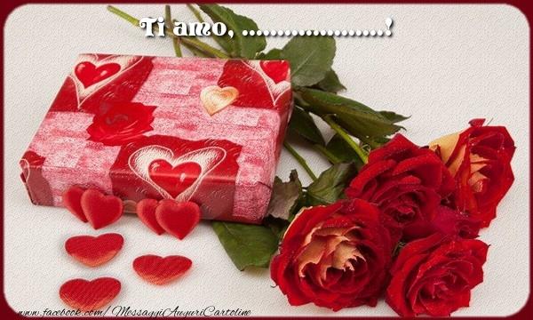 Cartoline personalizzate d'amore - Ti amo, ...!