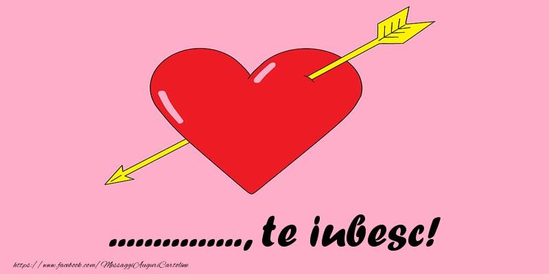 Cartoline personalizzate d'amore - ..., ti amo!