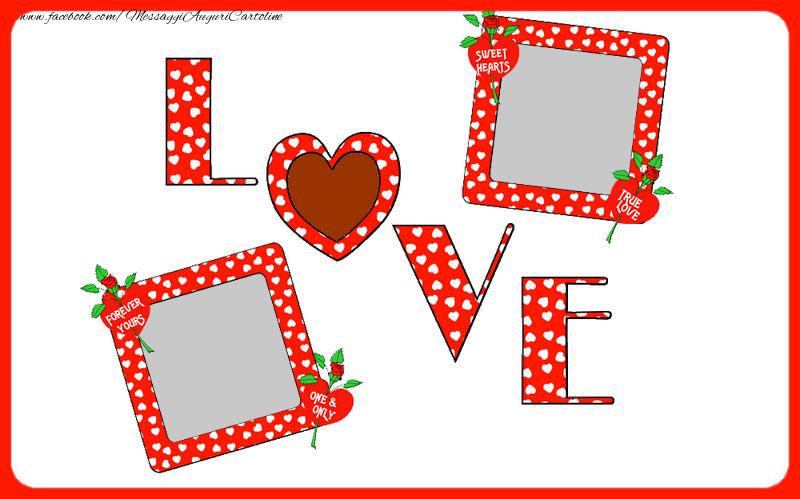 Cartoline personalizzate d'amore - Love