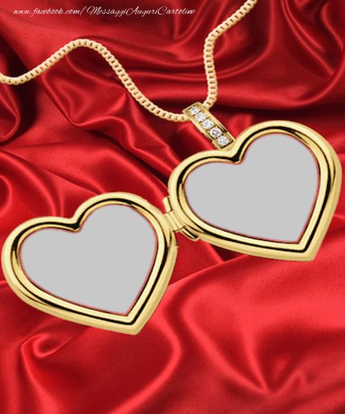 Cartoline personalizzate d'amore - Medaglione