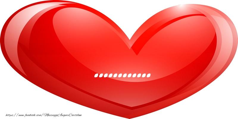 Cartoline personalizzate d'amore - Il nome ... nel cuore