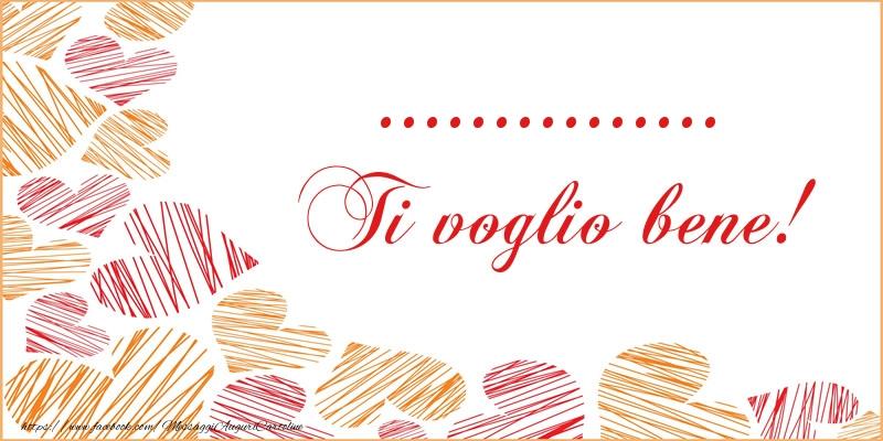 Cartoline personalizzate d'amore - ... Ti voglio bene!