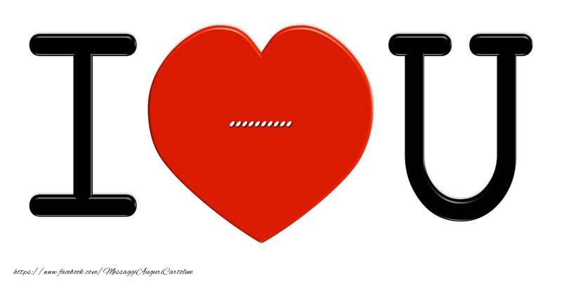 Cartoline personalizzate d'amore - ... nel cuore I love you!