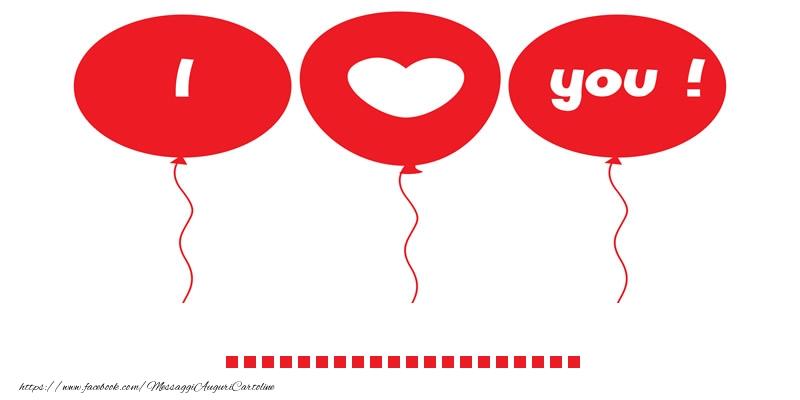 Cartoline personalizzate d'amore - I love you ...!