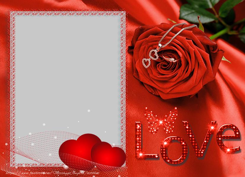 Cartoline personalizzate d'amore - Crea cartoline personalizzate con foto d'amore - Love, Cuori, Roses