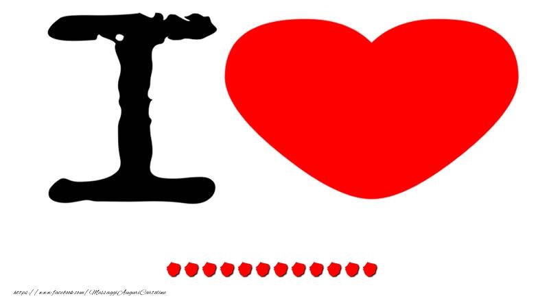 Cartoline personalizzate d'amore - I Love ...