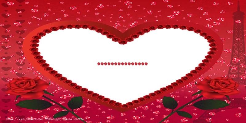 Cartoline personalizzate d'amore - Nome nel cuore ...