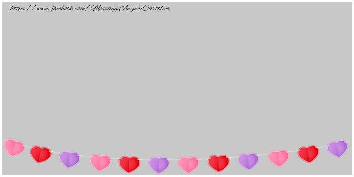 Cartoline personalizzate d'amore - Immagine con i cuori