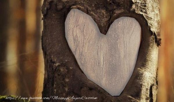 Cartoline personalizzate d'amore - Cuore