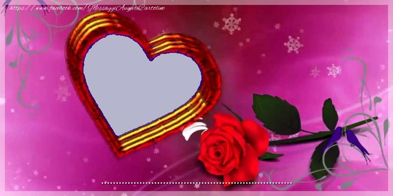 Cartoline personalizzate d'amore - il tuo messaggio