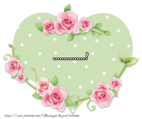 Cartoline personalizzate d'amore - Nome nel Cuore - ...
