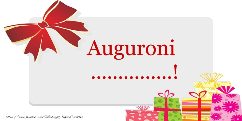 Cartoline personalizzate di auguri - Auguroni ...!