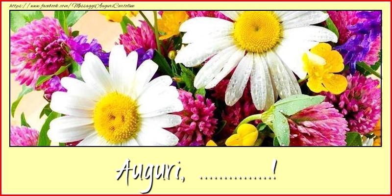 Cartoline personalizzate di auguri - Auguri, ...!