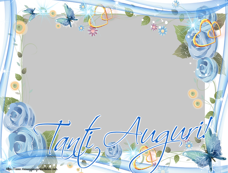 Cartoline personalizzate di auguri - Tanti Auguri! - Cornice foto di Auguri