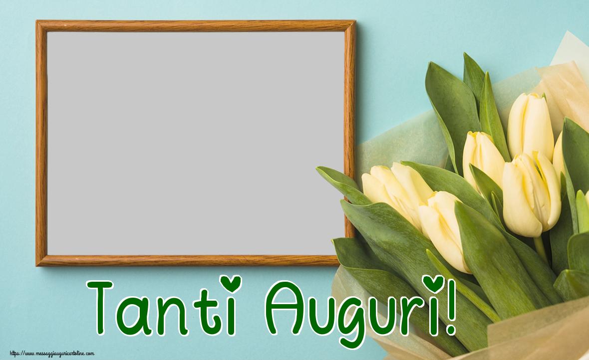 Cartoline personalizzate di auguri - Tanti Auguri! - Cornice foto