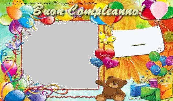 Cartoline personalizzate per bambini - Buon Compleanno, ...!