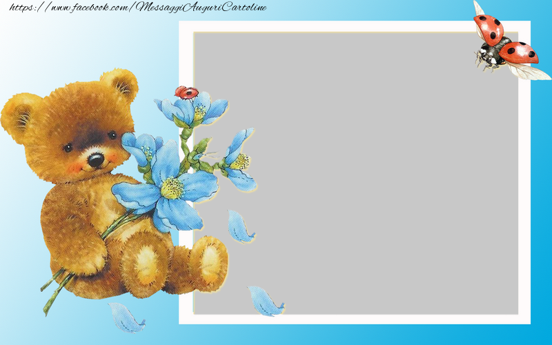 Cartoline personalizzate per bambini - Cornice fotografica