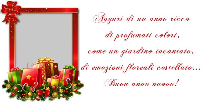 Cartoline personalizzate di Buon Anno - Felice anno nuovo!