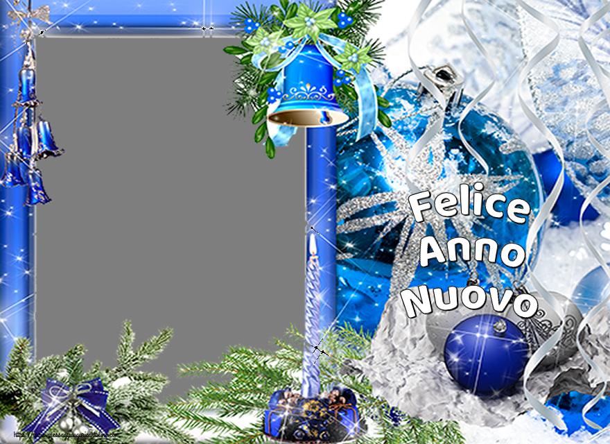 Cartoline personalizzate di Buon Anno - Felice Anno Nuovo - Cornice foto di Buon Anno