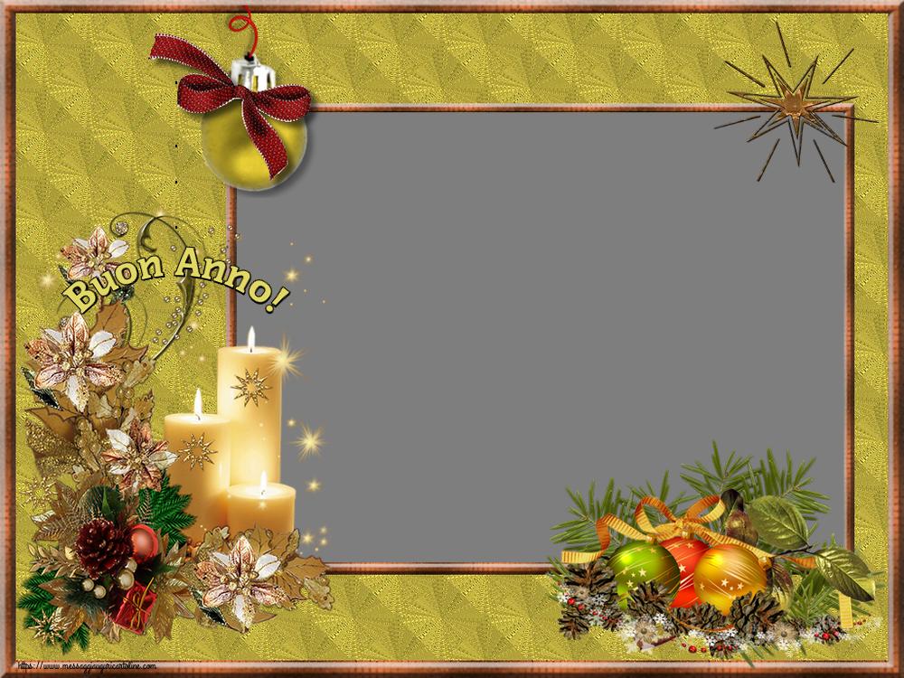 Cartoline personalizzate di Buon Anno - Buon Anno! - Cornice foto di Buon Anno