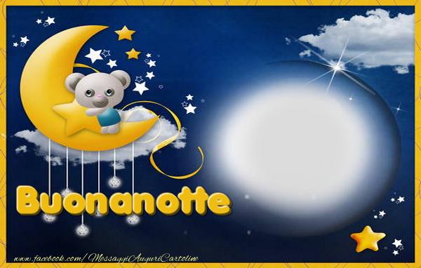 Cartoline personalizzate di buonanotte - Buonanotte