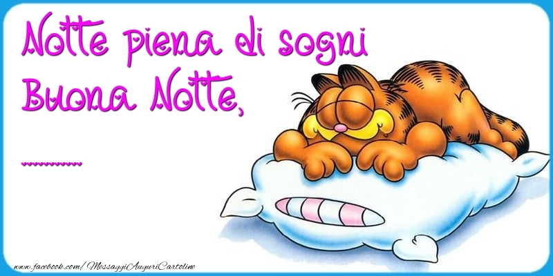 Cartoline personalizzate di buonanotte - Notte piena di sogni Buona Notte, ...