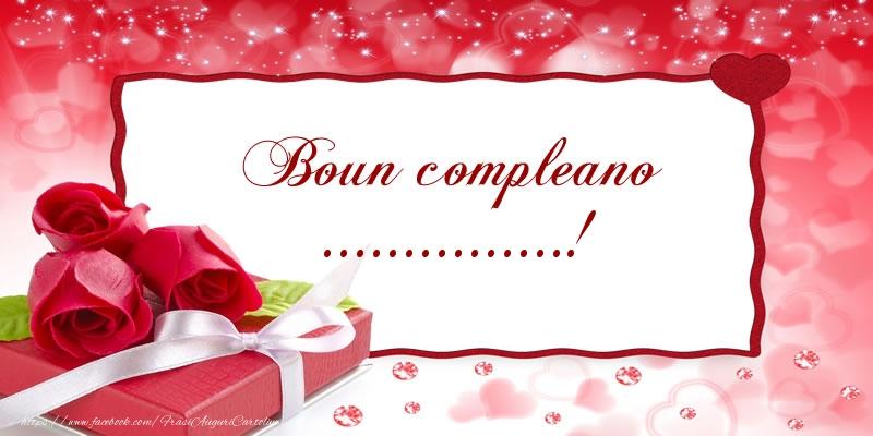 Cartoline personalizzate di compleanno - Boun compleano ...!