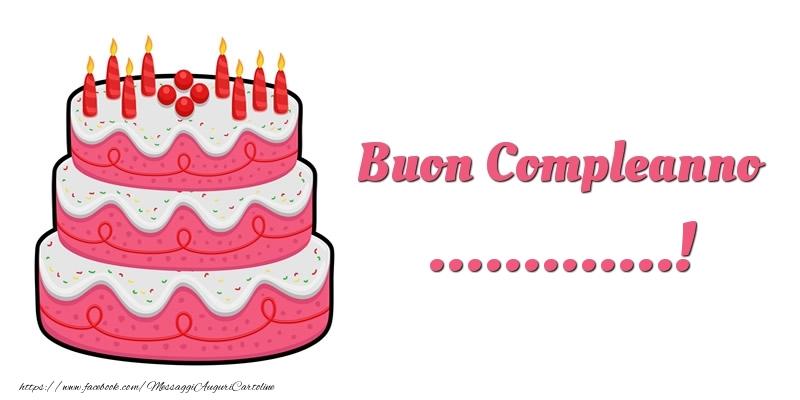 Cartoline personalizzate di compleanno - Torta Buon Compleanno ...