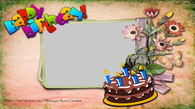 Cartoline personalizzate di compleanno - Happy birthday