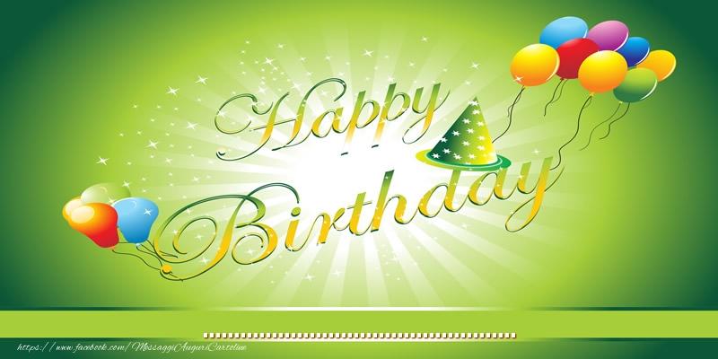 Cartoline personalizzate di compleanno - Happy Birthday! ...