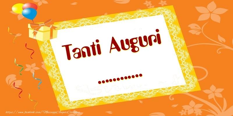 Cartoline personalizzate di compleanno - Tanti Auguri ...