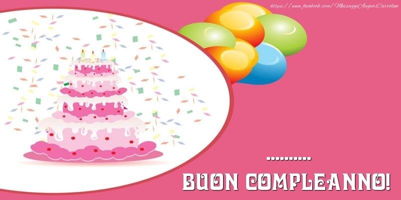 Cartoline personalizzate di compleanno - Torta per ... Buon Compleanno!