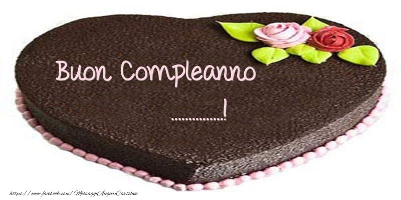 Cartoline personalizzate di compleanno - Torta di Buon compleanno ...!