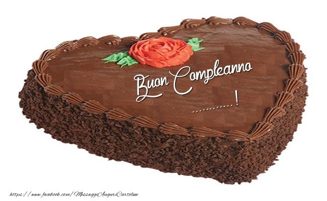 Cartoline personalizzate di compleanno - Torta Buon Compleanno ...!