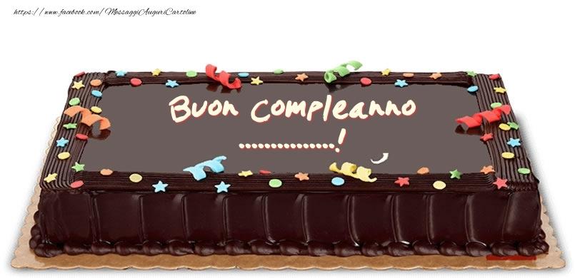 Cartoline personalizzate di compleanno - Torta di compleanno per ...!