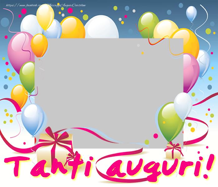 Cartoline personalizzate di compleanno - Tanti auguri!