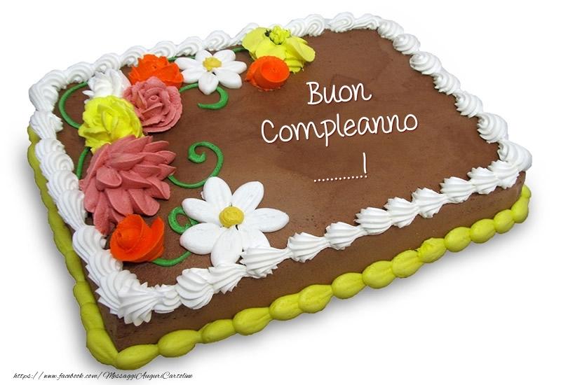 Cartoline personalizzate di compleanno - Torta al cioccolato: Buon Compleanno ...!