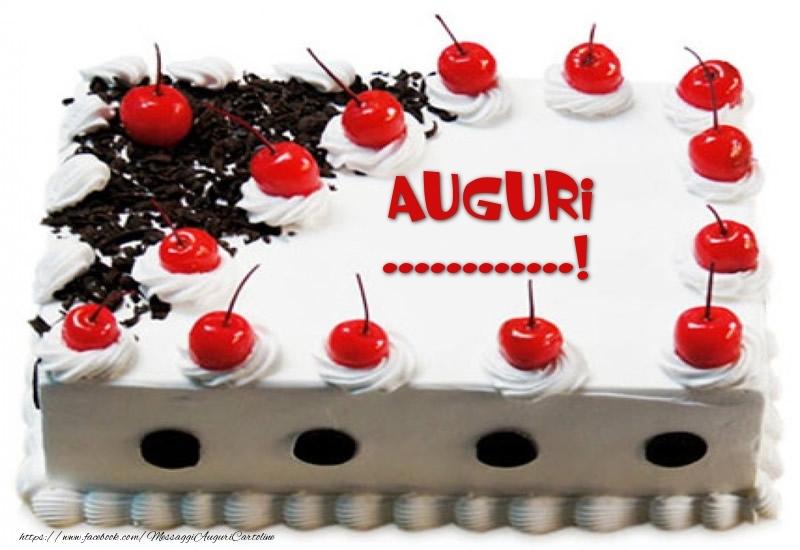 Cartoline personalizzate di compleanno - Torta Auguri ...!