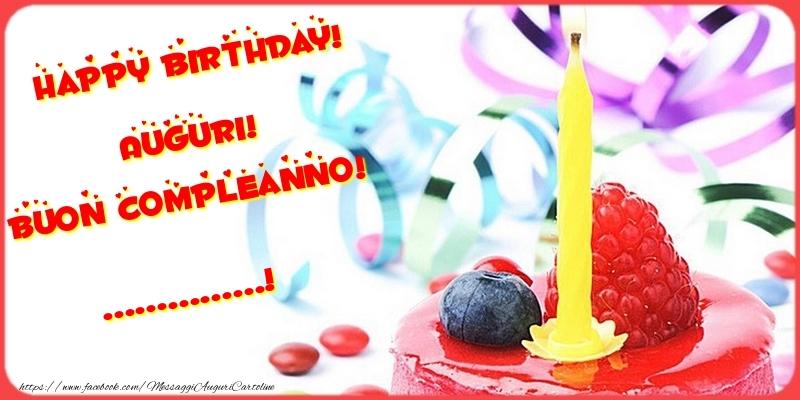 Cartoline personalizzate di compleanno - Happy birthday! Auguri! Buon Compleanno! ...
