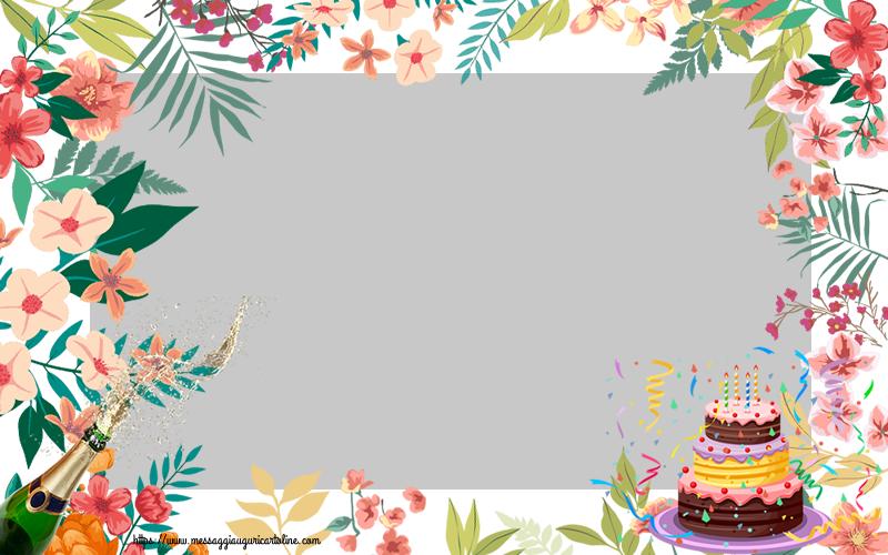 Cartoline personalizzate di compleanno - Cornice foto di Compleanno